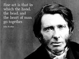 No 44 John Ruskin | Art Quote of the Day via Relatably.com