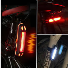 <b>COB LED Bicycle Bike Cycling</b> Front <b>Rear</b> Tail <b>Light</b> USB ...