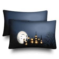GCKG <b>Halloween Castle</b> Church Full Moon <b>Pillow</b> Cases <b>Pillowcase</b> ...