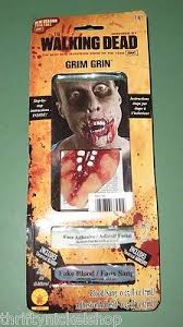 the walking dead tv show series grim grin zombie makeup kit mouth adhesive blood