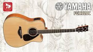 <b>Электроакустическая гитара Yamaha</b> FGX820C - YouTube