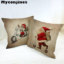 <b>Lovely Santa Claus</b> Merry Christmas Letter Bell <b>Cushion</b> Cover Star ...