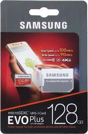 <b>Карта памяти</b> MicroSD EVO Plus V2 <b>128GB</b> Class 10 + SD адаптер