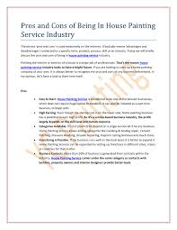 pros and cons of being in house painting service industry pdf pros and cons of being in house painting service industry pdf docdroid