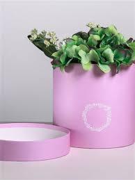 <b>Подарочная коробка</b> круглая Сиреневая патина 16 х 16 см ...