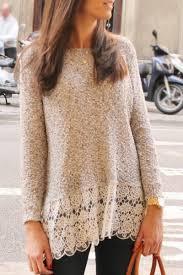 <b>Lace Edge Long Sleeve</b> Long T-Shirt | Fashion, Clothes, Style