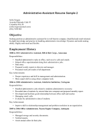 doc example resume administrative assistant objective now