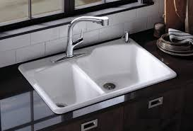 steel double bowl kitchen sink quot marvelous design of the white kitchen sink with black shiny marble cou