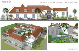spanish style courtyard homes       Cocoa Beach  Florida  United    Cocoa Beach  Florida  United States New Residential   Large Home Plans   Architecture  Design   Pinterest   Courtyards  Coc