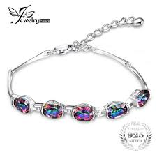 JewelryPalace <b>Natural Mystic Rainbow Topaz</b> Bracelet Tennis Link ...