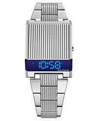 Bulova <b>Men's Digital LED</b> Computron Stainless Steel Bracelet <b>Watch</b> ...