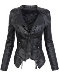 <b>2019 Pop 2019</b> Gothic <b>Faux Leather</b> PU Jacket Women Winter ...