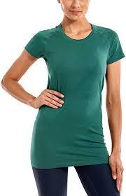 CRZ <b>YOGA Women's</b> Active <b>Sports Tee</b> Seamless Short Sleeve ...