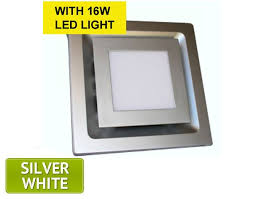 The Square <b>LED Light Exhaust</b> Fan is a modern low profile ceiling ...