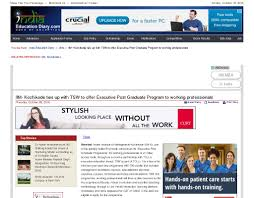 iim kozhikode ties up tsw to offer executive post graduate one of the leading n b schools announces its executive post graduate programme for working that includes management foundation courses