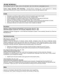 internship resume objective examples example financial intern objective for internship resume