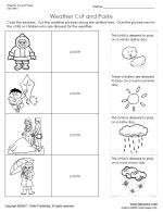 Free Preschool Fine Motor Skills Worksheets | TLSBooksThumbnail image Weather Cut and Paste Worksheet.