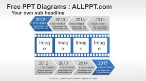 free powerpoint timeline diagrams    arrow film timeline ppt diagrams