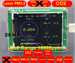S8 M5 CO2 <b>Sensor PM2</b>.5 PM1.0 PM10 Co2 <b>detector PM2</b>.5 dust ...