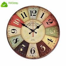 12inch <b>Retro Wooden Wall Clock</b> Farmhouse Decor NALAKUVARA ...