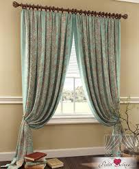 Классические шторы daphne цвет: бирюзовый <b>томдом</b> из ткани ...