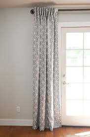 french door curtains patio