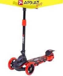 <b>Самокат</b> 3-х колесный <b>Ridex 3D</b> Robin (120/90 мм), Цвет красный ...