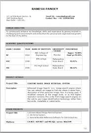 resume format example for freshers - Template - Template resume format example for freshers