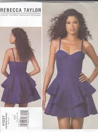Fitted Bodice Dress Vogue Sewing Pattern Misses Size Rebecca Taylor Fitted