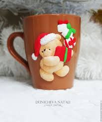 <b>Кружка</b> новогодняя с <b>мишкой</b> – купить на Ярмарке Мастеров ...