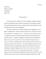 Example Of An Evaluation Essay