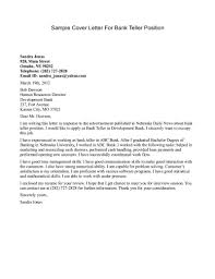 cover letter federal job cover letter writing cover letter for cover letter cover letter for bank job examples writing a pdf sample cover teller positionfederal job