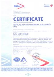 our products institute of entrepreneurship development iso ied english