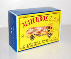 Matchbox Lesney No 51 ALBION <b>CHIEFTAIN</b> Empty Repro Box <b>style</b> D