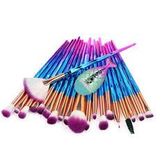 <b>21PCS</b> Pro Mermaid <b>Makeup Brushes</b> Foundation Eyebrow Eyeliner ...