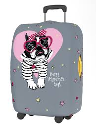 <b>Чехол для чемодана Ratel</b> Happy Valentines Day S Pink Glasses ...