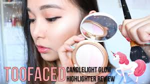 <b>TooFaced Candlelight Glow</b> Highlighter Review | SWATCHES AND ...