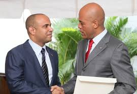 Laurent Lamothe et Michel Martelly