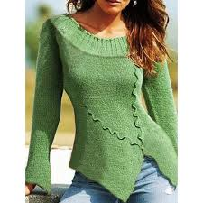 <b>European and American</b> Retro Casual Irregular <b>Sweater</b> – fashiontia