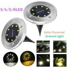 <b>8 LED Solar</b> Power Buried Light Under Ground Lamp Outdoor Path ...