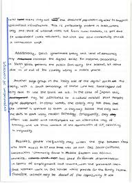 geography hl how to write the  mark essay  the geography study  annotated digital divide essay part