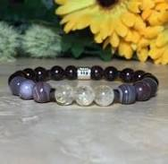 Scorpio Zodiac Bracelet, Garnet Bracelet, Amethyst Bracelet, Gray ...