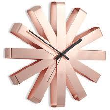 <b>Часы настенные Umbra RIBBON</b> медь — купить в интернет ...