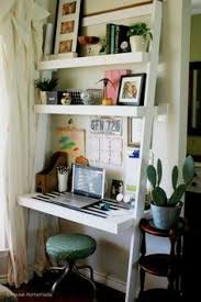 leaning ladder desk househomemadeus do it yourself home projects from ana white ana white completed eco office desk