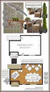 outdoor living spaces plans all three plans together or skip the dimension plan and just group the