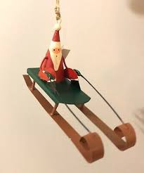 <b>Ski</b> Santa on a sledge.<b>Christmas</b> tree <b>decoration</b>.shoeless joe ...