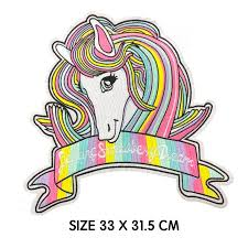 <b>1 Piece</b> Large Unicorn <b>Embroidered</b> Patches Sewing for Clothes ...