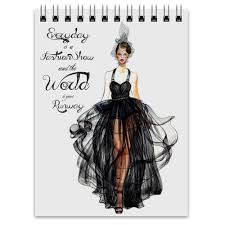<b>Блокнот Black fashion</b> dress #474939 от katerinaonuchina