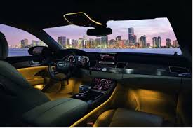 ambient lighting in the audi a8 car mood lighting