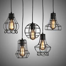 classical 110 220v american country retro loft style pendant lamp with e27 edison bulb vintage cage pendant lighting